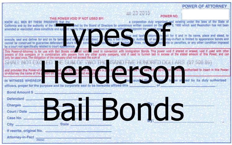 Types of Henderson Bail Bonds